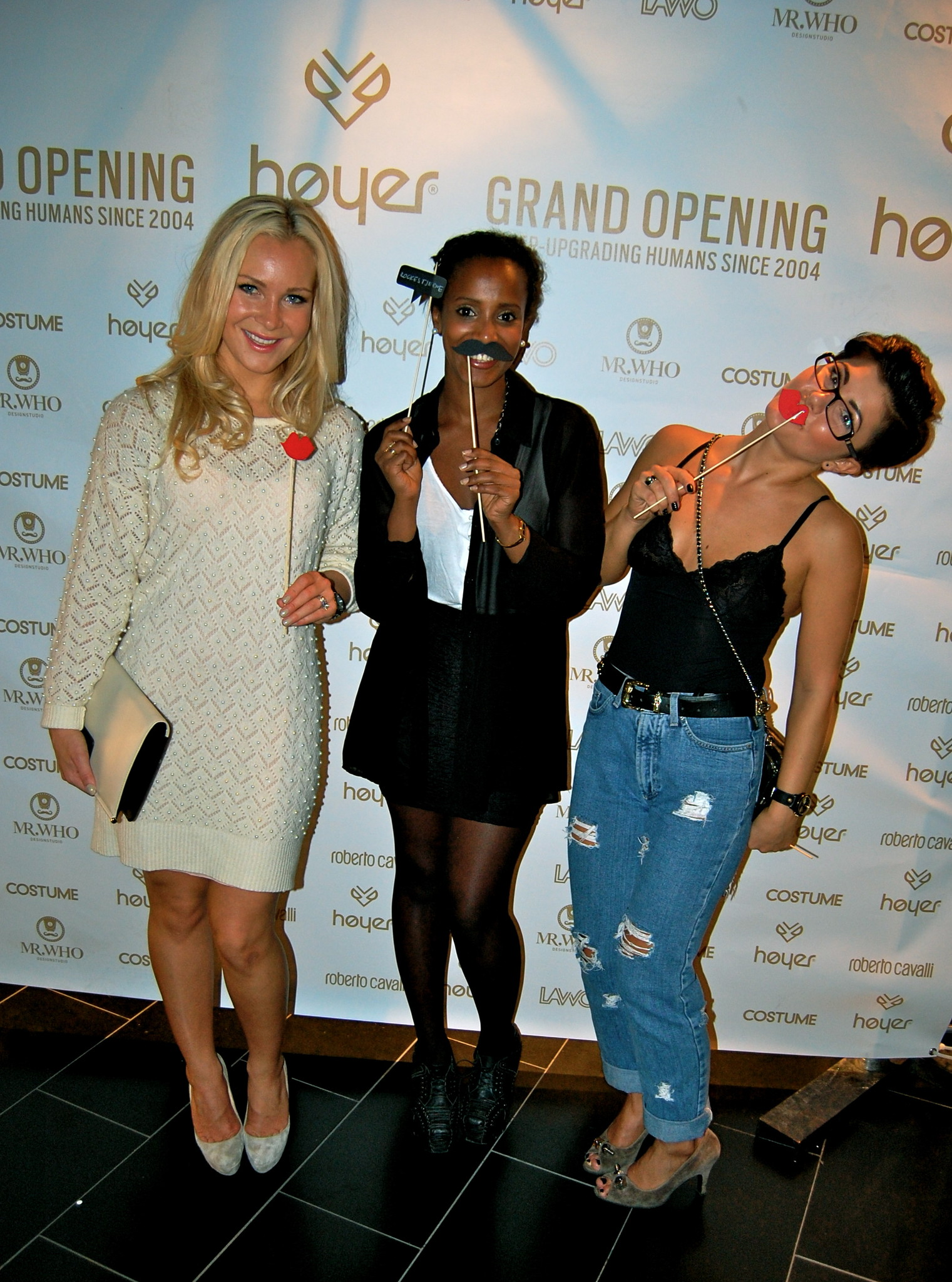 ee58706b Last Friday me, Renee Rokstad & Senait Embaye went to this lovely reopening of  Høyer Luxury Store <3 wearing my Vintage dress from LA, Christian Louboutin  ...