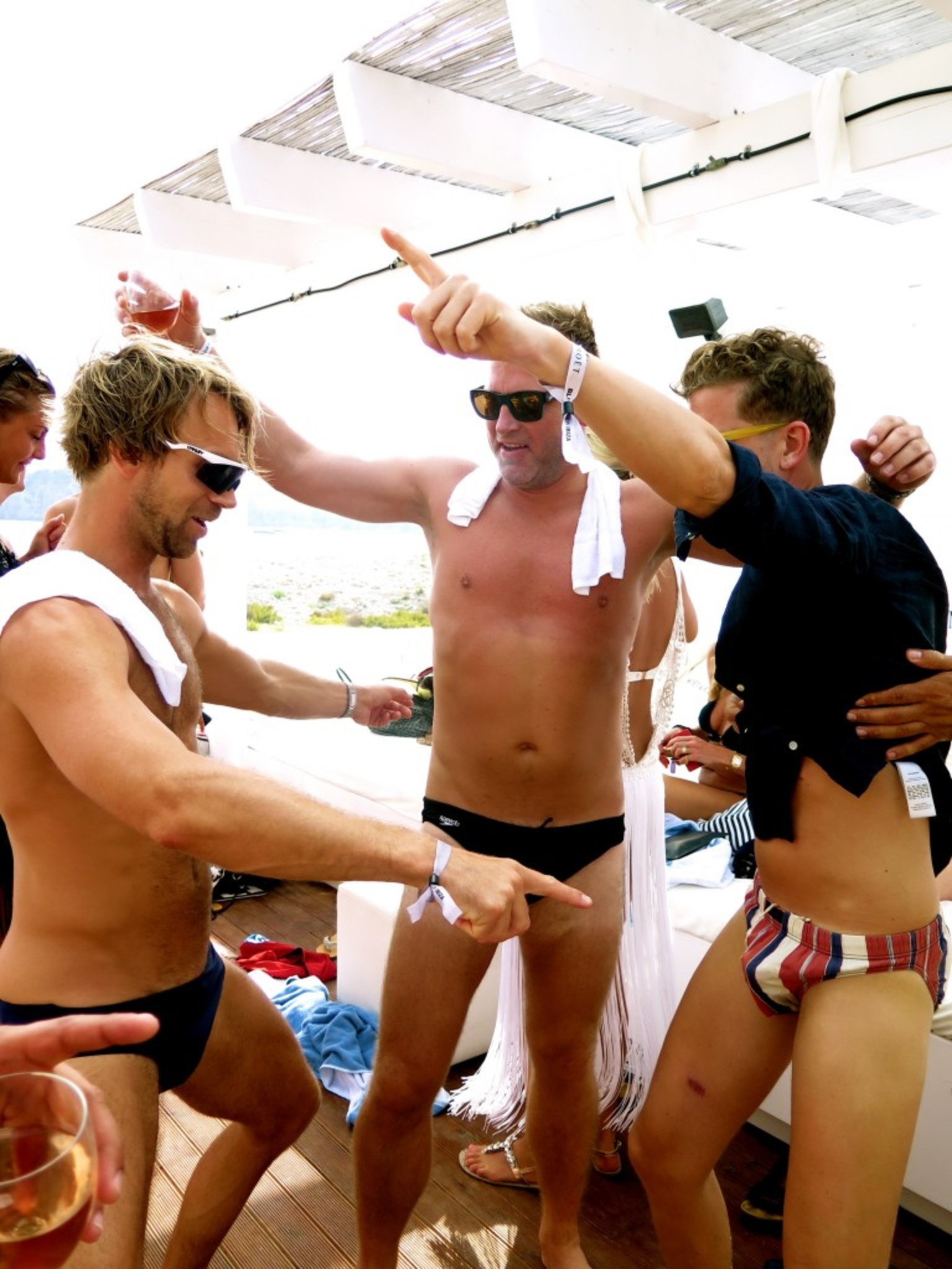 Okay, 3,2,1 - LEGGO !!!! Blue Marlin <3 Ibiza - Sunday Service!! Speedo crew! Arvid, Stallion and Beckman, who else dare???