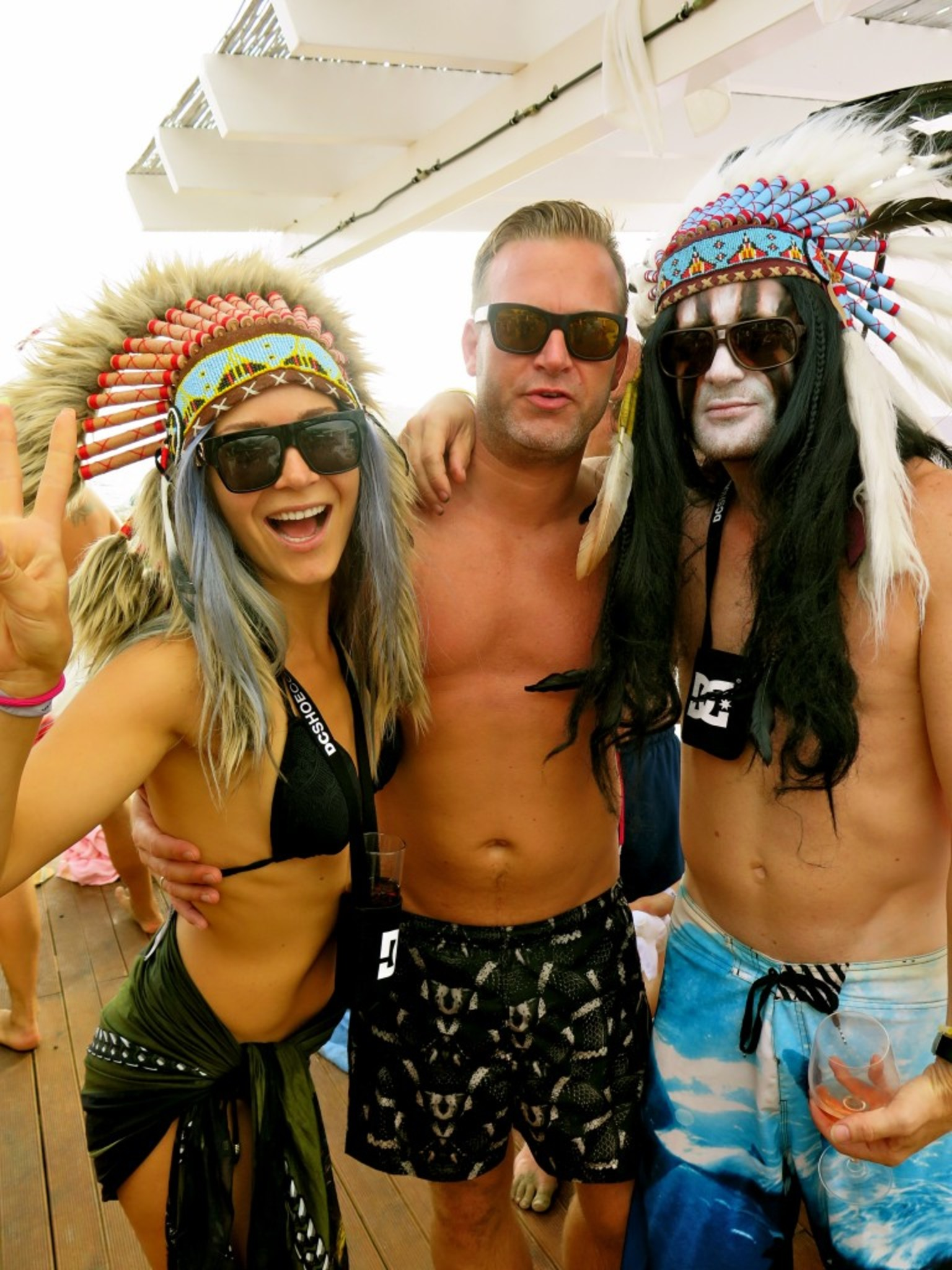 Met these indians in the Moet Cabana next to us, they were also celebrating their BdayBash.. So you know how it is.. We all became friends!